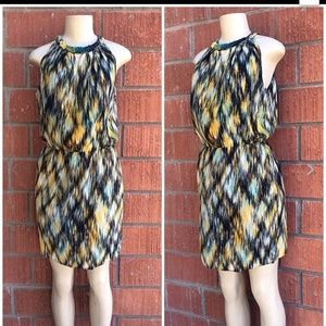 GREYLIN Anthropologie Chic Abstract Print Dress